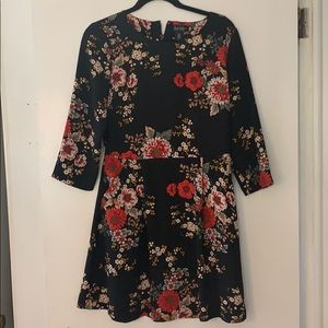 Nicole Miller Floral Mini Dress with Pockets
